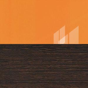 Оранжевый глянец / Венге