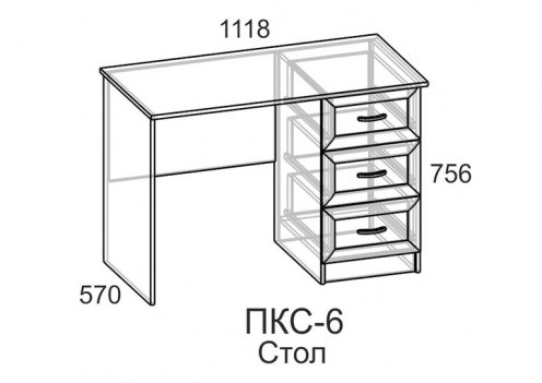Компьютерный стол ПКС-6