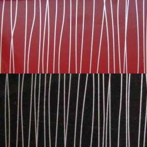 Красный глянец страйп / Чёрный глянец страйп