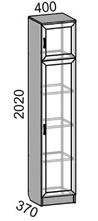 Шкаф 1-дверный MP-40 Машенька