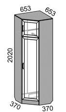 Шкаф угловой MP-60 Машенька