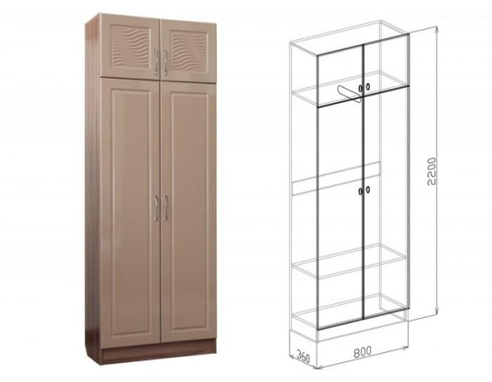 Шкаф 2-дверный Вега