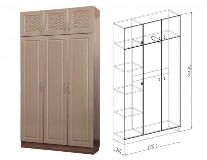 Шкаф 3-дверный Вега