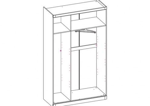 Шкаф 3-х дверный Модена (без дверей)
