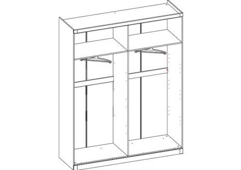 Шкаф 4-х дверный Модена (без дверей)