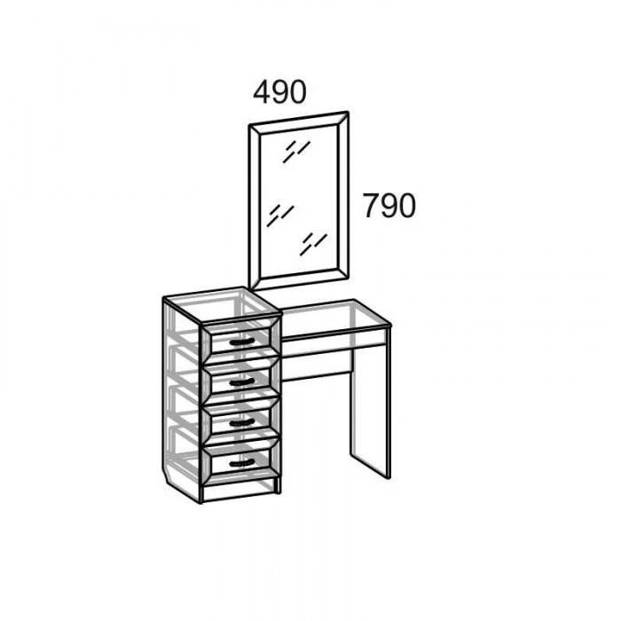 Стол 1-но тумбовый СВР-71 Светлана рамка