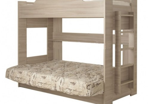 Двухьяросная Кровать с диваном