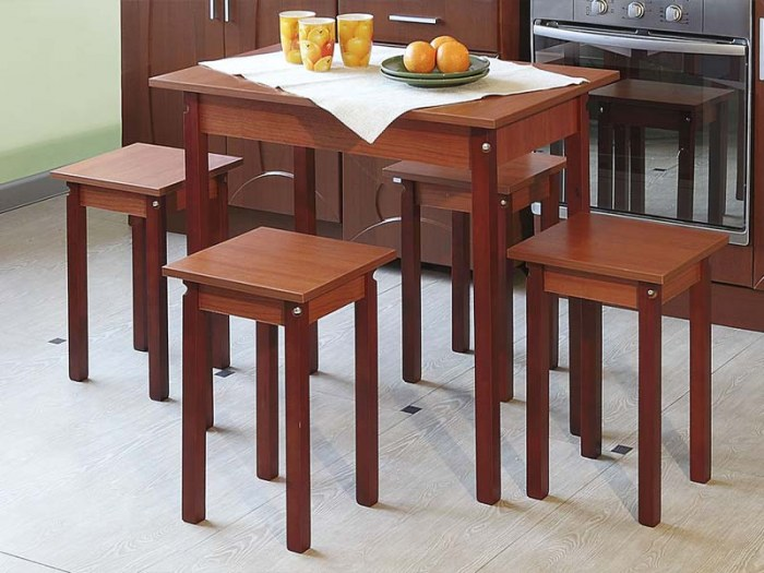 Обеденный стол прямая нога