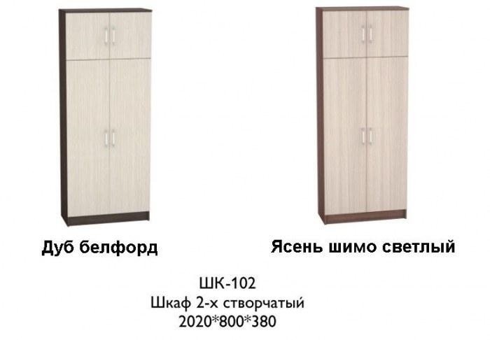 Шкаф двустворчатый ШК-102 к прихожей Машенька