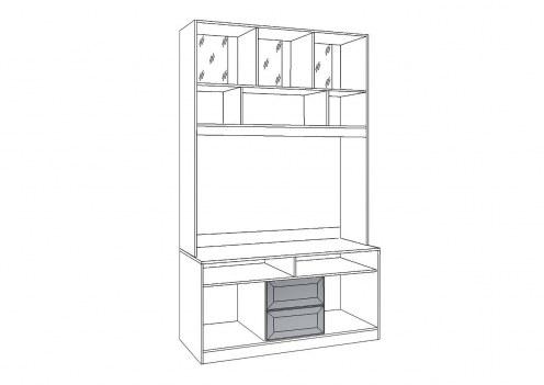 Флорида 1 Шкаф-витрина средний