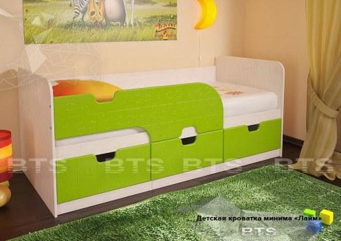 Минима Кровать детская Лайм