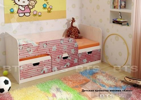 Минима Кровать детская Хеллоу Китти