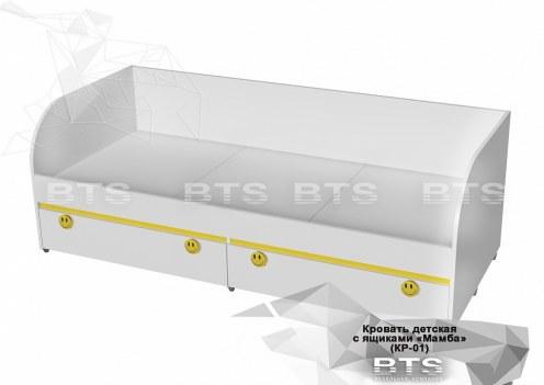 Мамба Кровать с ящиками КР-01