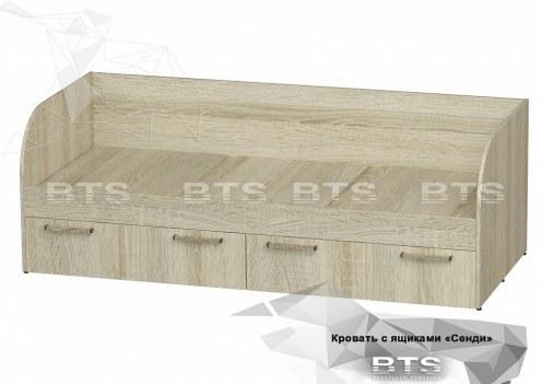 Сенди Кровать с ящиками КР-01