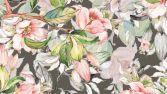 Фибра Гармония грей (розово-серые цветы)