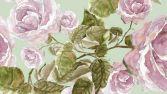 Фибра Лоран (розы на мятном фоне)