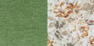 Лаундж 25 зеленый-Фибра 28855 Коричнев. цветы