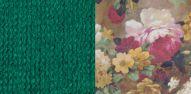 Толидо 33 темно-зеленый-Фибра 2505-02 яркие цветы