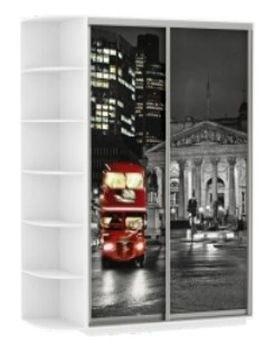 """Шкаф-купе Дуо фото """"Ночной Лондон"""""""